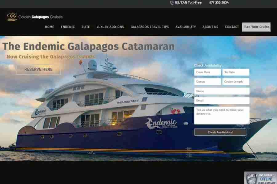web design ship booking agency