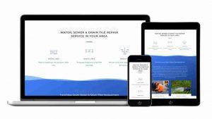 one page web development